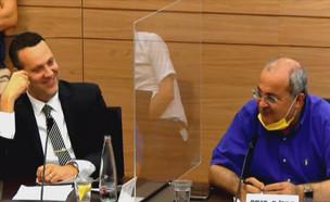אחמד טיבי ומיקי זוהר בכנסת (צילום: ערוץ כנסת)