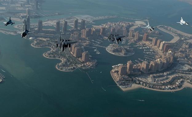 שיתוף הפעולה האווירי (צילום: USAFCENT, Twitter)