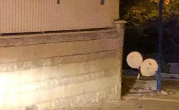 בלון תבערה נחת בבאר שבע (צילום: דוברות המשטרה)