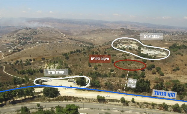 """גבול לבנון (צילום: דובר צה""""ל )"""