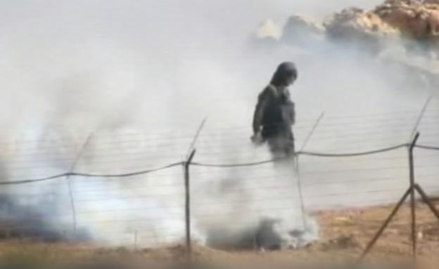 מטרת דמה בגבול לבנון (צילום: al mayadeen)