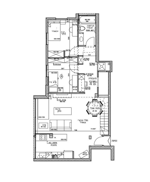 עיצוב בטי יעקובסון, ג, תוכנית אדריכלית, קומת הגג אחרי השיפוץ