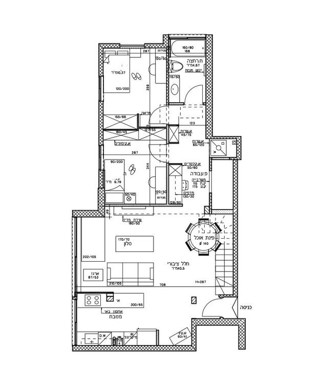 עיצוב בטי יעקובסון, ג, תוכנית אדריכלית, קומת הכניסה אחרי השיפוץ