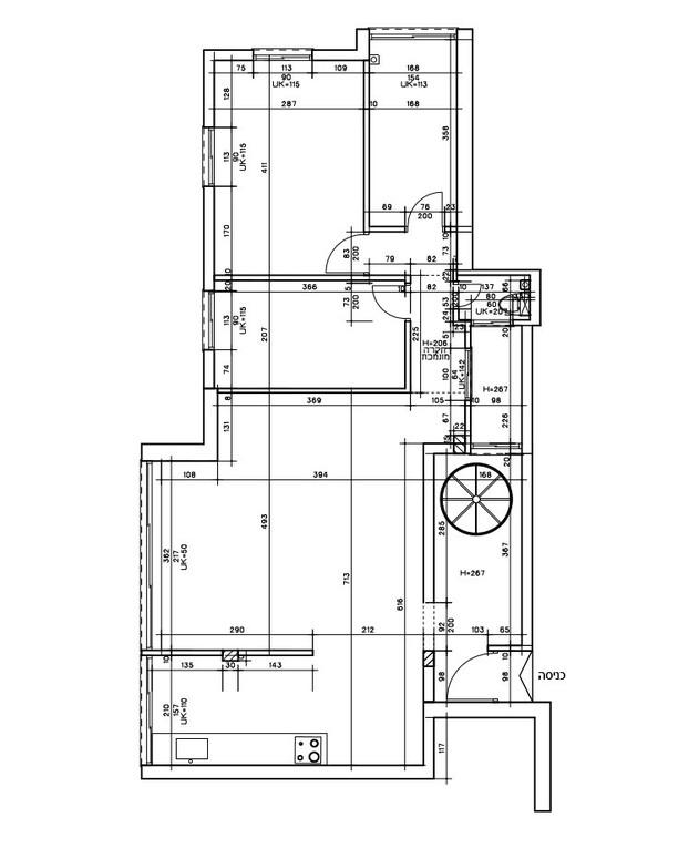 עיצוב בטי יעקובסון, ג, תוכנית אדריכלית, קומת הכניסה לפני השיפוץ