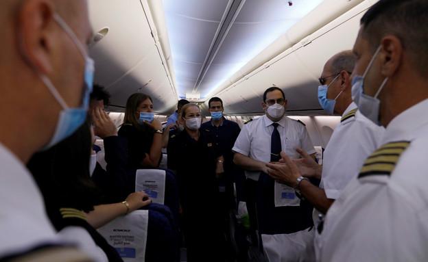 טיסה מסחרית ישראלית לאיחוד האמירויות (צילום: רויטרס)