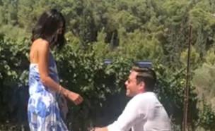 הצעת הנישואים של שרונה מרלין (צילום: אלון חן, פרטי)