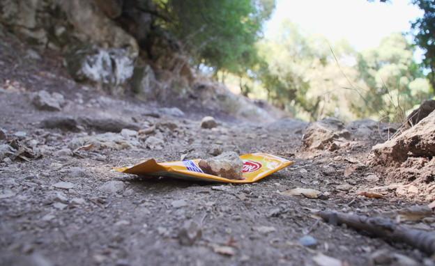מבחן הניקיון בטבע: הישראלים ירימו את הזבל? (צילום: חוסין אל אוברה)
