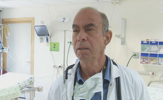 """ד""""ר אמיר שחר, מנהל המחלקה לרפואה דחופה בלניאדו (צילום: N12)"""