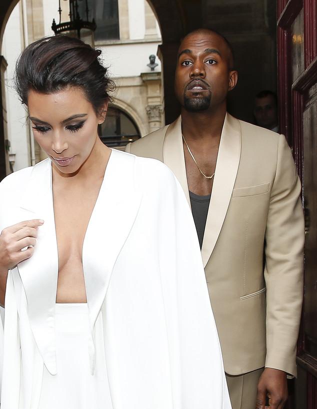 קים וקניה מסיבת חתונה (צילום: KCS Presse / Splash News, Splash news)