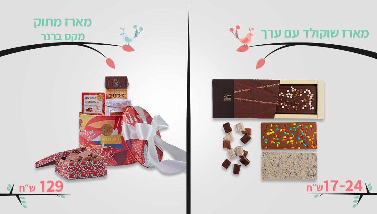 מארז מקס ברנר 129 שח, מארז שוקולד עם ערך, מחיר -17-24 שקלים