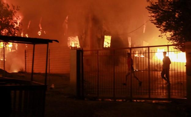 מהומות קורונה ביוון (צילום: AP)