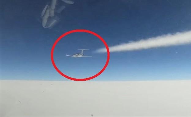 תיעוד התקרית (צילום: משרד ההגנה הרוסי, YouTube)