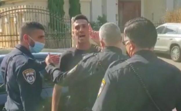 תיעוד רגע המעצר של ערן זהבי