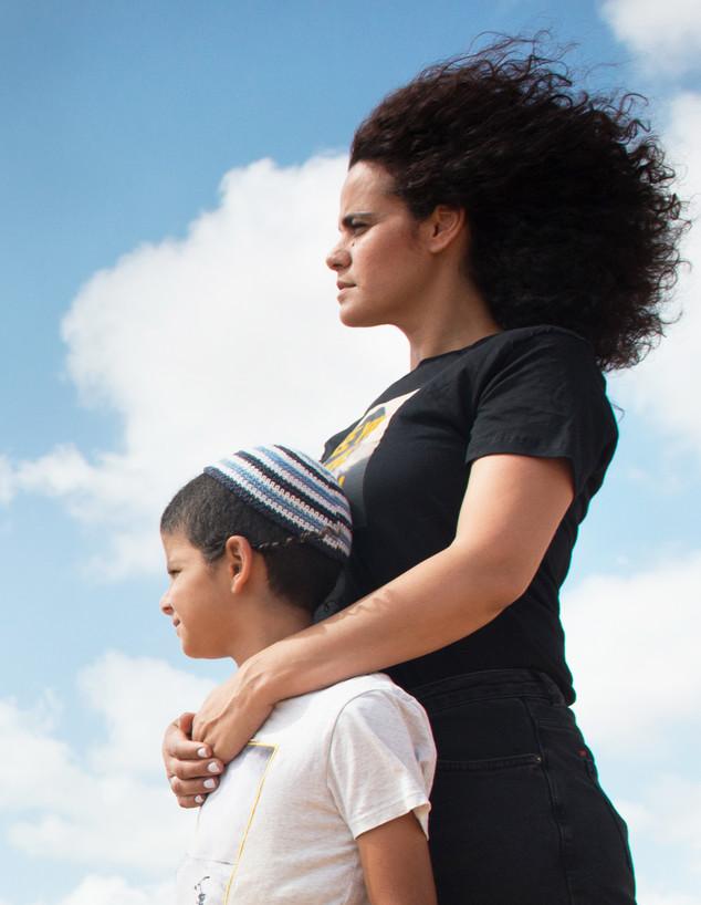 מורן הילה מדמוני ובנה ישראל-מאיר (צילום: דוד וינקור)