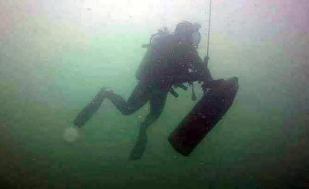 ספינה בריטית ישנה שחמאס מצא מתחת למים