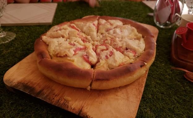 פיצה טבעונית של האיטלקיה הטבעונית (צילום: רומי בן צבי)