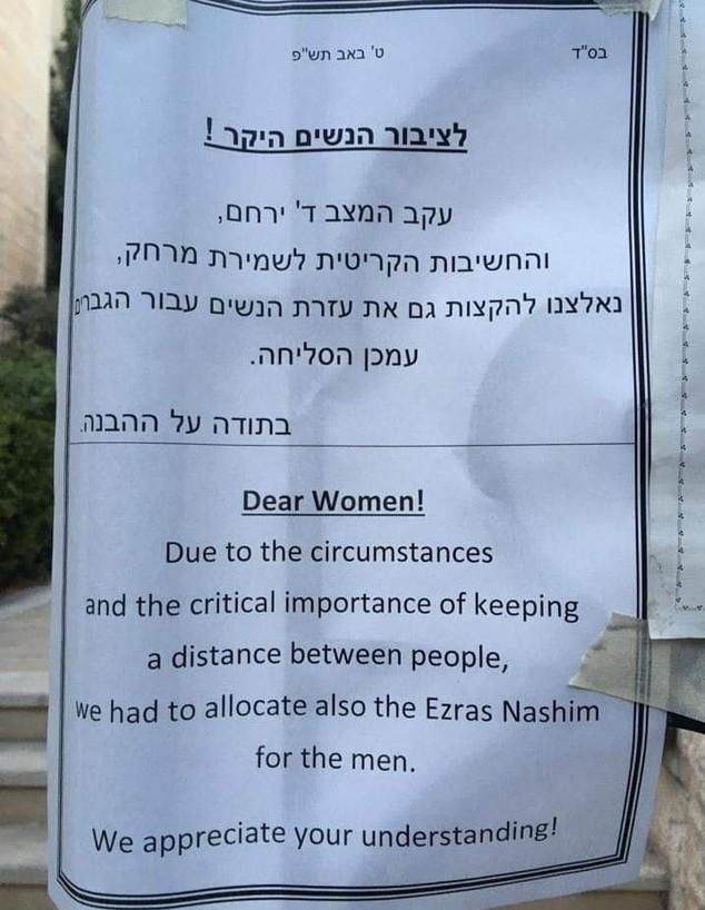 נשים מודרות מבתי הכנסת (צילום: מתוך העמוד של