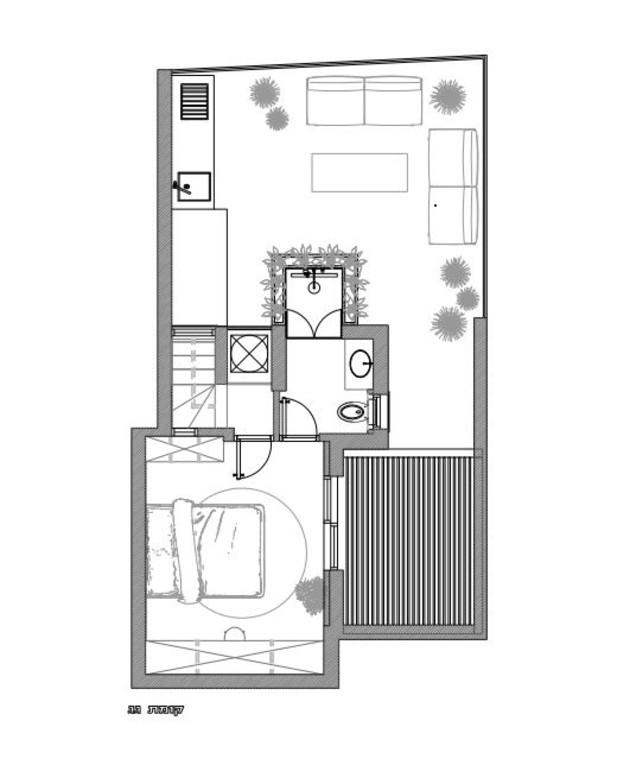 עיצוב סטודיו רועי זליחובסקי, תוכנית אדריכלית, קומת גג, ג