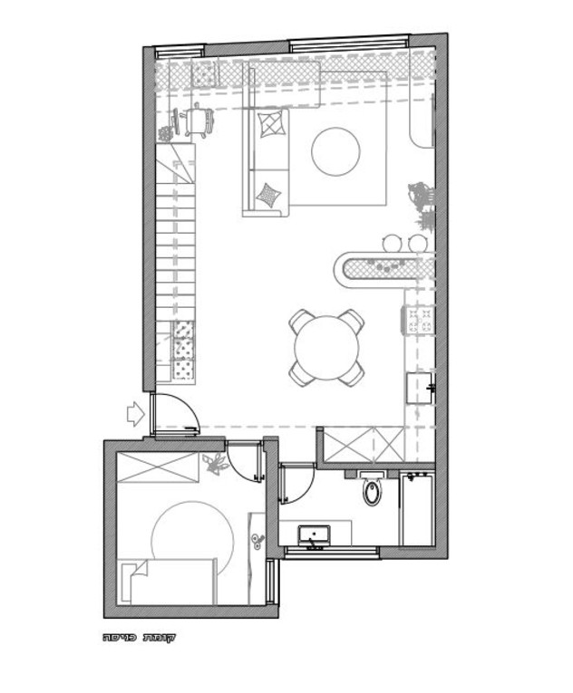 עיצוב סטודיו רועי זליחובסקי, תוכנית אדריכלית, קומת כניסה, ג