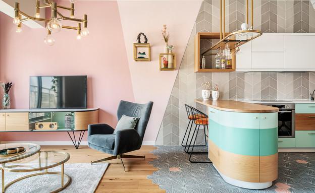 דירה בתל אביב, עיצוב סטודיו רועי זליחובסקי - 1 (צילום: יואב פלד)