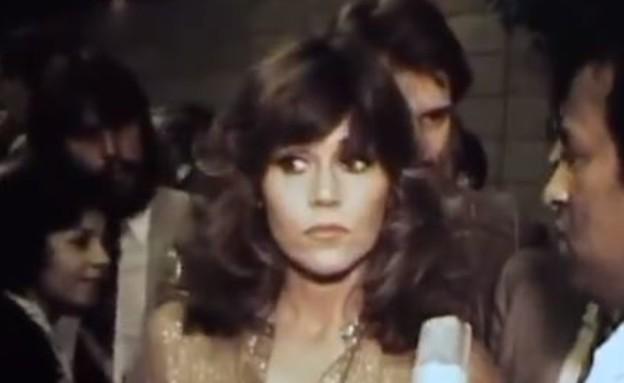 סרטון נדיר של השחקנית הפך ויראלי  (צילום: צילום מתוך טוויטר )