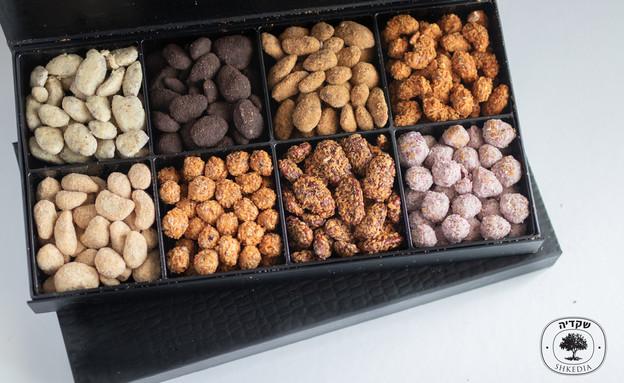 מארז אגוזים מצופים, שקדייה (צילום: סטודיו שקדייה, יחסי ציבור)