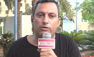 """אש בדרום: אלון דוידי והשר אלי כהן (צילום: מתוך """"חדשות הבוקר"""" , קשת 12)"""
