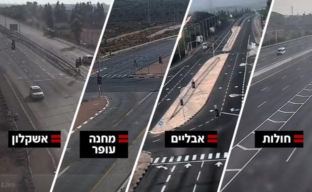 כבישי ישראל התרוקנו לאחר כניסת הסגר (צילום: נתיבי ישראל, נתיבי ישראל)