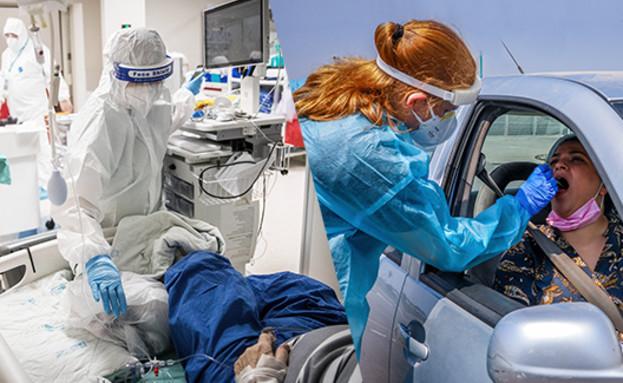 שיא במספר החולים קשה (צילום: יונתן זינדל ויוסי אלוני, פלאש 90)