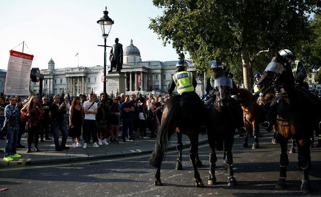הפגנות בלונדון נגד הגבלות הקורונה (צילום: רויטרס)