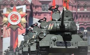 טנקים רוסים (צילום: ALEXANDER NEMENOV/AFP, GettyImages)