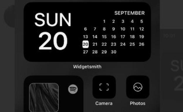 עיצוב לדוגמה iOS14 (צילום: traf/Twitter)