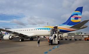 מטוס של ארקיע (צילום: הילה ויסמן)