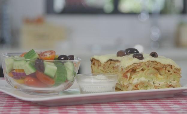 פשטידת אטריות (צילום: מתוך אמהות מבשלות ביחד, ערוץ 24 החדש)