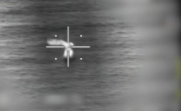 """ניסוי במערכת טילי ים (צילום: דובר צה""""ל )"""
