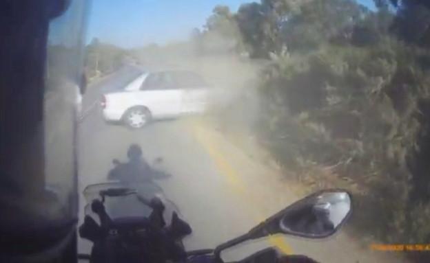 מרדף משטרתי בדרום (צילום: משטרת ישראל)