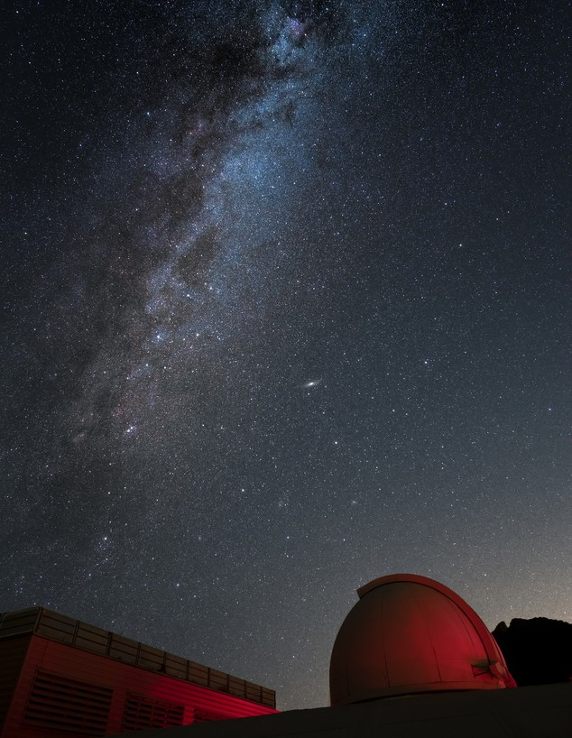 המצפה האסטרונומי, חורף (צילום: Andrea Vanoni per la Fondazione Clément Fillietroz-ONLUS)
