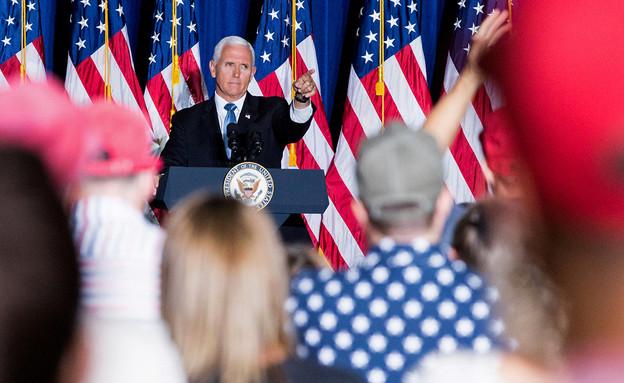 """סגן נשיא ארה""""ב מייק פנס (צילום: רויטרס)"""
