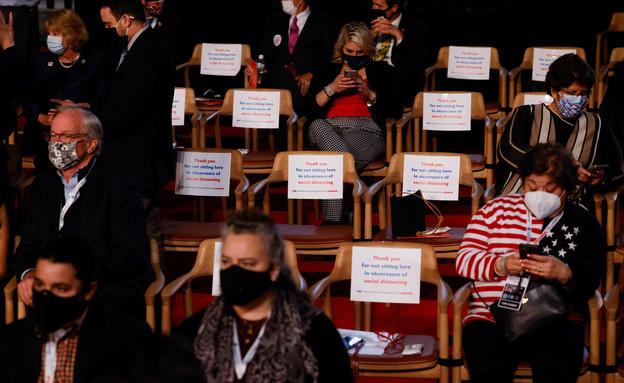 קהל העימות  (צילום: רויטרס)