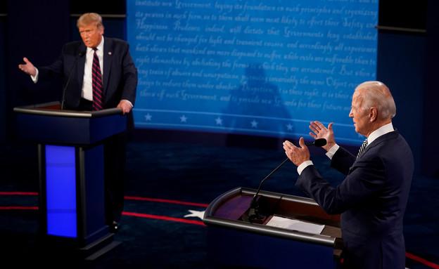 """נשיא ארה""""ב טראמפ והמתמודד הדמוקרטי לנשיאות ביידן (צילום: שי פרנקו,רויטרס)"""