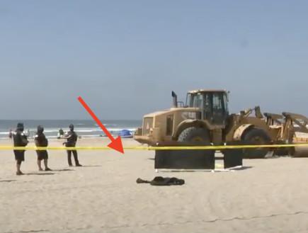 קליפורניה: טרקטור דרס למוות אישה שישנה על חוף הים