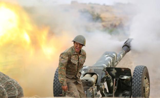 המלחמה בין אזרבייג'ן לארמניה (צילום: רויטרס)