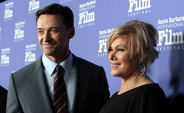 דבורה-לי פורנס, יו ג'קמן (צילום: Rebecca Sapp/Getty Images for Santa Barbara International Film Festival)