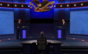 """נשיא ארה""""ב טראמפ והמתמודד הדמוקרטי לנשיאות ביידן"""