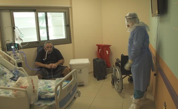 שלומי טובה, חולה קורונה שאימו נפטרה (צילום: החדשות 12)