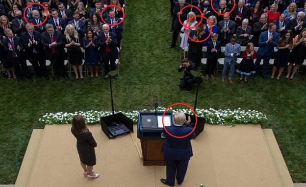 אירוע ההדבקה בבית הלבן (צילום: רויטרס)