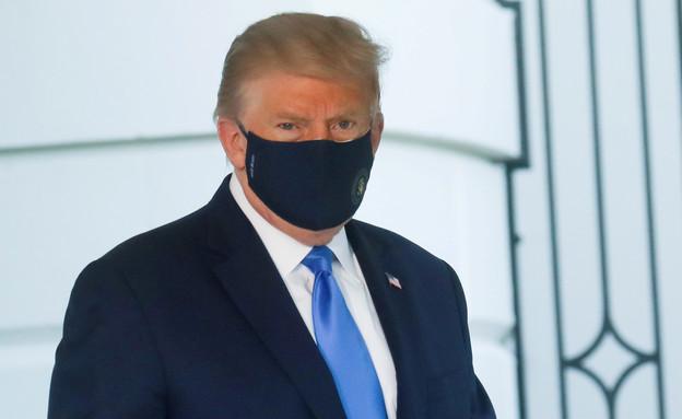 דונלד טראמפ מסכה (צילום: רויטרס)