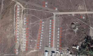 המטוסים חונים באזור הקרבות (צילום: ONC3X, Twitter)