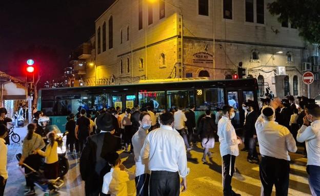 הפגנות חרדים בירושלים (צילום: מחאות החרדים הקיצוניים)
