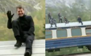 טום קרוז על רכבת, 2020 (צילום: טיקטוק - tomaspangelo)